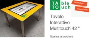 tavolo touch ambienti digitali
